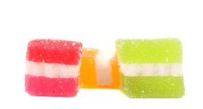 Different fruit-paste candies. Isolated. On a white background Royalty Free Stock Photography