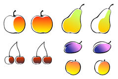Different fruits Stock Photos