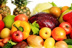 Different fruits. Fresh Vegetables, Fruits and other foodstuffs. Shot in a studio Royalty Free Stock Image