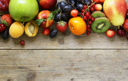 Different fruits and berries stock photography