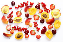Different fruits and berries Stock Images
