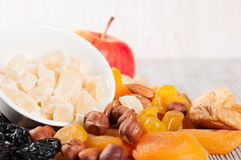 Different fruits and nuts Stock Photography