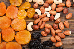 Different fruits and nuts Royalty Free Stock Photos