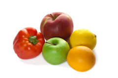 Different fruits and pepper Royalty Free Stock Images