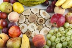 Different fruits set stock photos