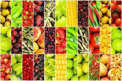Different fruits and vegetables Royalty Free Stock Image