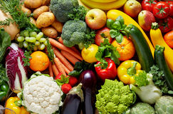 Different fruits and vegetables stock images