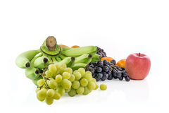 Different fruits   on white ,Clipping path included Stock Image