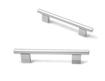 Different furniture accessories - door furniture handles isolate Royalty Free Stock Photo
