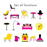 Different furniture and items in the home Royalty Free Stock Images