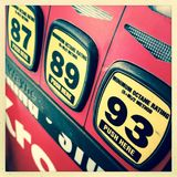 Different gasoline choices Stock Photos