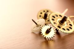 Different gears on the table Royalty Free Stock Photo