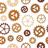 Different Gearwheels Seamless Background Stock Image