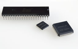 Different generation of processors Stock Images