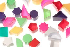 Different geometric shapes royalty free stock images