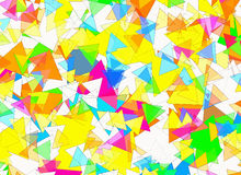 Different geometrical Shapes in Chaotic Arrangement Stock Photography