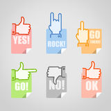 Different gestures icons set Royalty Free Stock Photography
