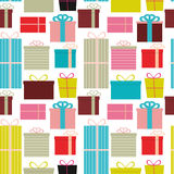 Different Gift Box Seamless Pattern Background Vector Illustrati. On EPS10 Stock Photos