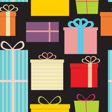 Different Gift Box Seamless Pattern Background. Vector Illustration EPS10 Stock Photography