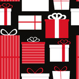 Different Gift Box Seamless Pattern Background Royalty Free Stock Photos