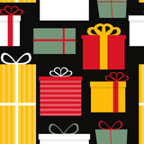 Different Gift Box Seamless Pattern Background Stock Photo