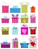 Different gift boxes. Vector illustration of abstract different gift boxes Royalty Free Stock Photos