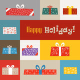 Different gift boxes illustration Stock Images