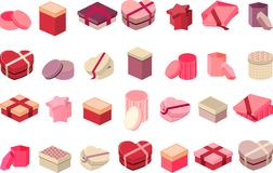 Different gift  boxes isolated on white Stock Photography