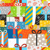 Different gift boxes seamless pattern royalty free illustration