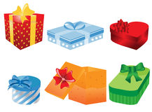 Different gift boxes. Vector illustration of different gift boxes Royalty Free Stock Photography