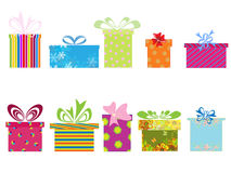 Different gift boxes. Vector illustration of different gift boxes Royalty Free Stock Photo
