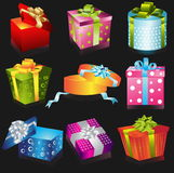 Different gifts illustration Royalty Free Stock Photos