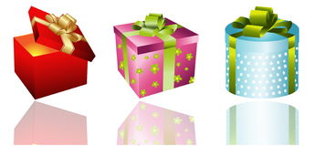 Different gifts illustration Stock Image