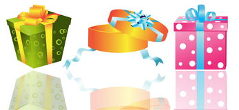 Different gifts illustration Stock Photography