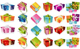 Different gifts illustration Stock Images