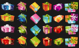 Different gifts illustration Stock Photos