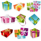 Different gifts illustration Royalty Free Stock Photo