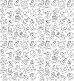 Different gifts and present black and white seamless pattern Royalty Free Stock Photos