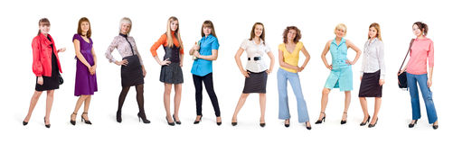 Different girls Royalty Free Stock Image