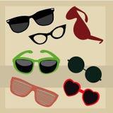 Different glasses royalty free illustration