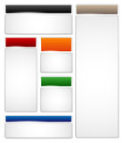Different glossy frames for your headline and body text Royalty Free Stock Photo