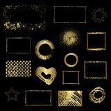 Different gold elements, vector design Stock Images