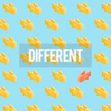 Different Goldfish Freedom Ideas Graphic Royalty Free Stock Photos