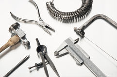 Different Goldsmith's Tools Royalty Free Stock Photos
