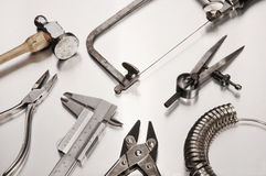 Different Goldsmith's Tools Stock Photography