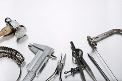 Different Goldsmith's Tools Stock Photos