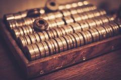 Different goldsmiths tools. Stock Photo
