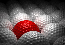 Different Golf Ball Royalty Free Stock Photos