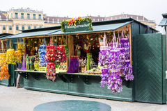 Different goods at the Easter market in Vienna Stock Photo