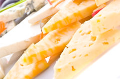 Different grades of cheese Royalty Free Stock Photos